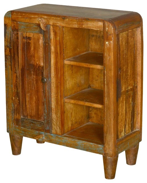 Fusion Reclaimed Wood Cabinet with Open Shelves - Rustic - Accent Chests And Cabinets - by ...