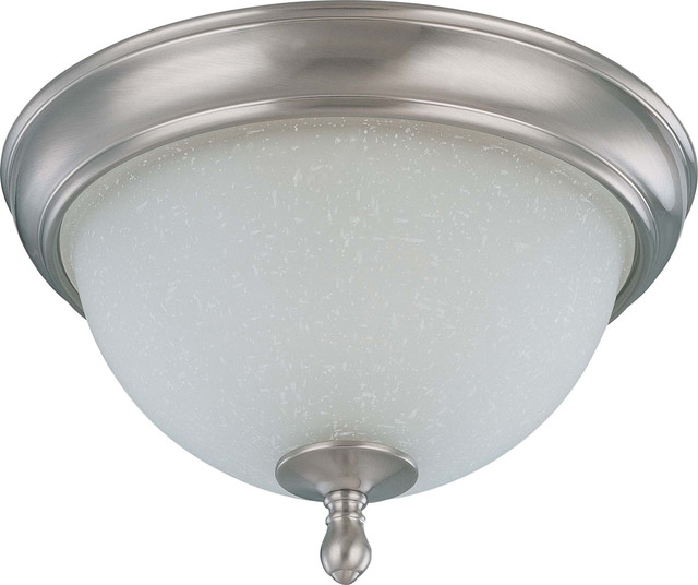 Ceiling Light Glass Dome : Nuvo lighting bella light quot flush dome with