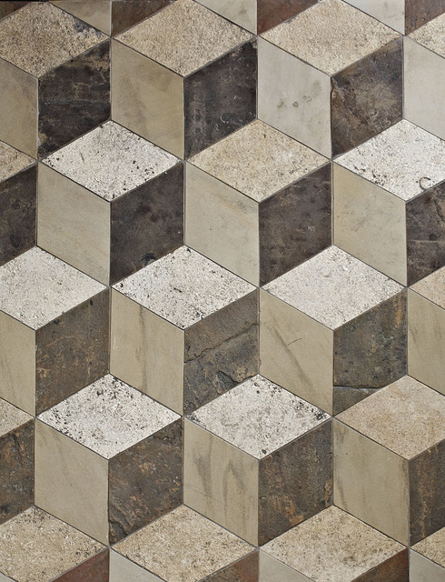 Antique Reclaimed 3d Floor Tiles Traditional Wall Floor Tiles London By Lapicida Stone