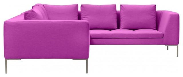 ecksofa madison iv pink rechts minimalistisch eck. Black Bedroom Furniture Sets. Home Design Ideas