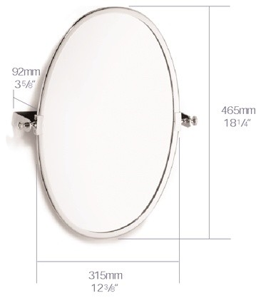 Samuel Heath Oval Swivel Mirror L88 CP Contemporary Bathroom Mirrors