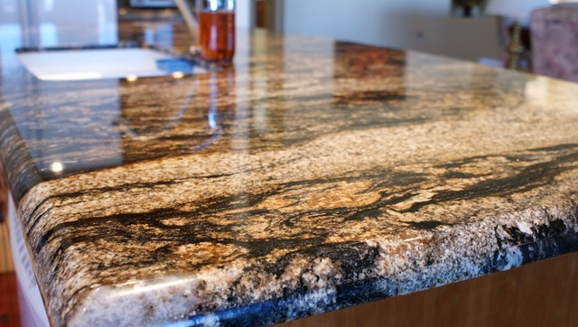 Volcano Granite Countertops 3cm Traditional Kitchen