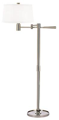 Lindale Swing Arm Floor Lamp - Modern - Floor Lamps - by Lightology