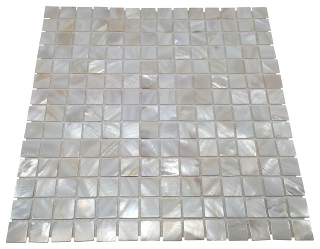 Mother Of Pearl Seashell Tile Oyster White Contemporary