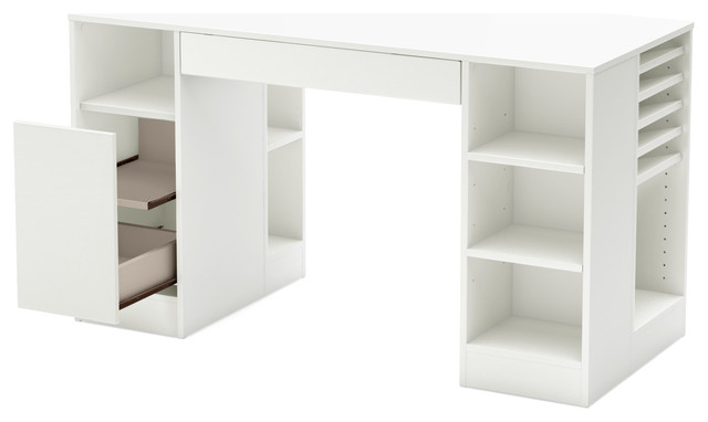 South Shore Crea Craft Table, Pure White - Modern - Kids Tables And ...