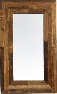 Angora reclaimed wood frame mirror eclectic wall for Reclaimed wood new york