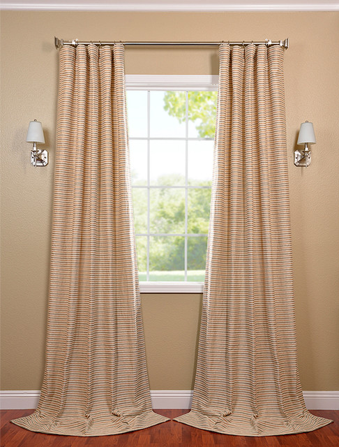 beige and grey casual cotton curtain contemporary curtains san francisco by half price. Black Bedroom Furniture Sets. Home Design Ideas