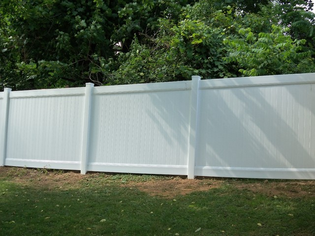 Vinyl privacy fence contemporary landscape other