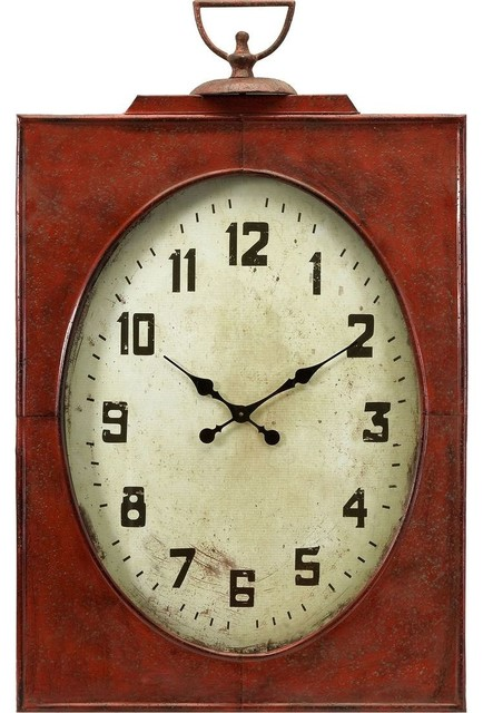 Carnen oversized red wall clock modern wall clocks - Oversized modern wall clock ...