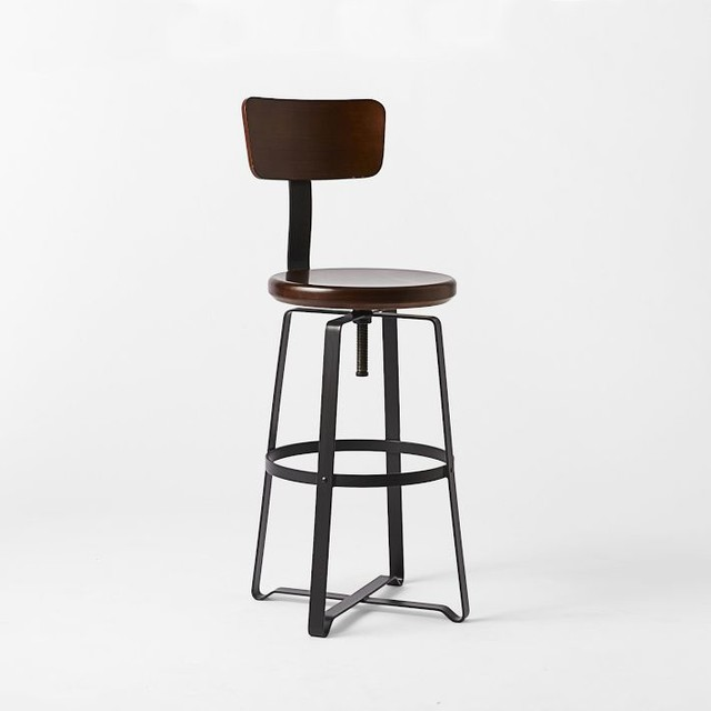 Adjustable Industrial Stool With Back Industrial Bar