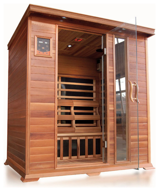 SunRay Savannah 3 Person Infrared Sauna - Rustic - Saunas - by Steam Showers 4 Less