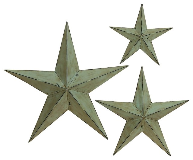 Grey Star Wall Decor : Dimensional grey stars wall d cor piece set