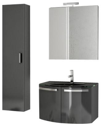 28 inch glossy anthracite bathroom vanity set modern bathroom vanities