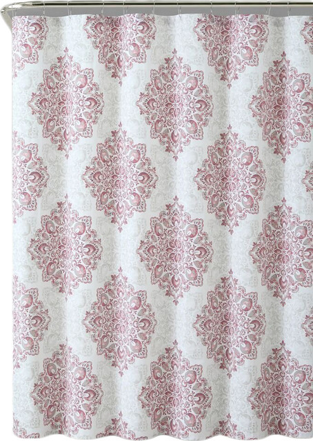 Tranquility 100 Cotton Fabric 72x72 Shower Curtain Blush Modern Shower Curtains By