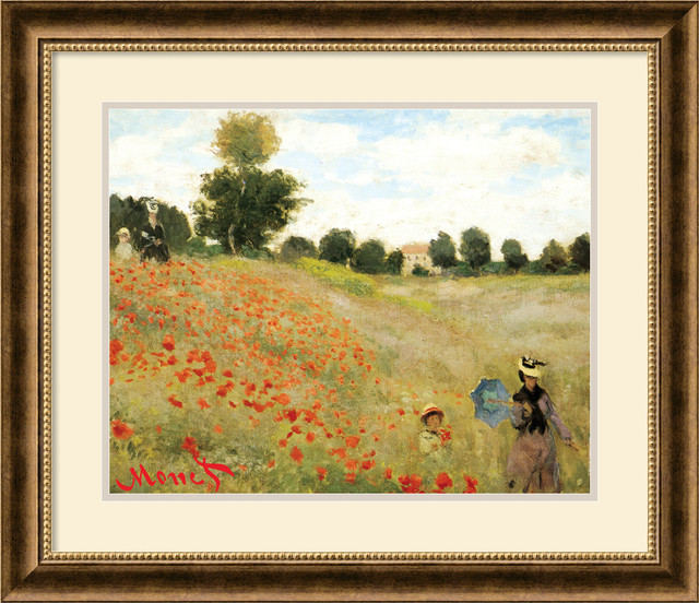 Poppies At Argenteuil 1873 Framed Print By Claude Monet