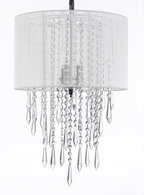 Empress Crystal Chandelier With Pink Crystal Stars