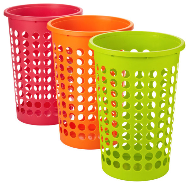Large Round Circles Hamper - Contemporary - Hampers - by The Container Store