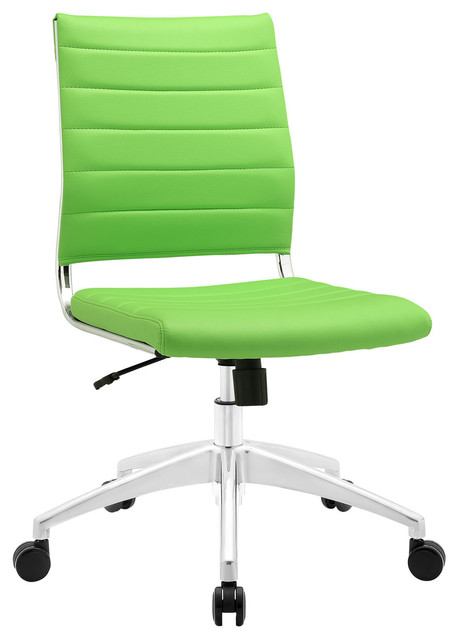 Adjustable modern chromed armless mid back office chair bright green modern office chairs - Armless office chairs uk ...
