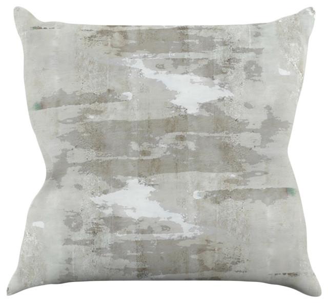 ... Neutral Gray Throw Pillow, 16