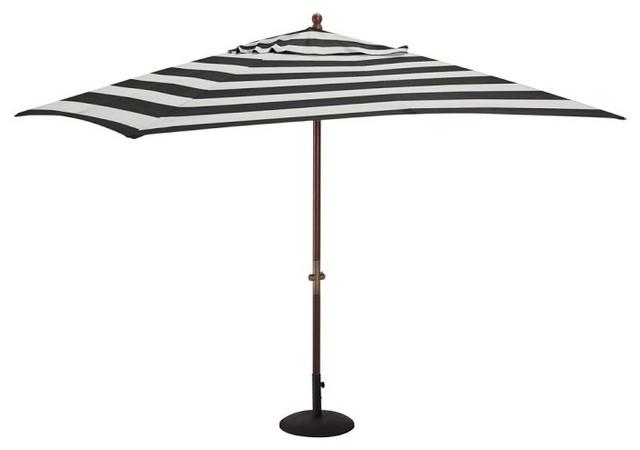 sunbrella rectangular umbrella awning stripe black