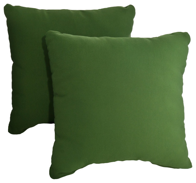Outdoor Patio Accent Pillows, Hunter Green - Contemporary - Outdoor Cushions And Pillows - by ...