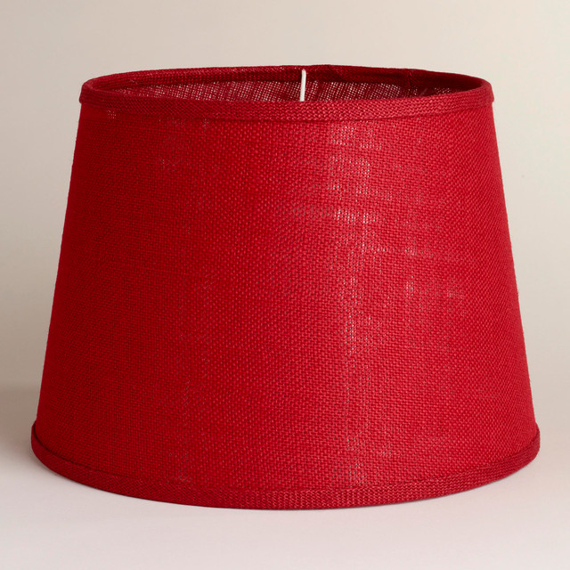 red burlap table lamp shade contemporary lamp shades. Black Bedroom Furniture Sets. Home Design Ideas