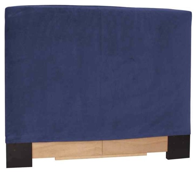 Twin slipcovered headboard in royal blue contemporary for Royal headboard