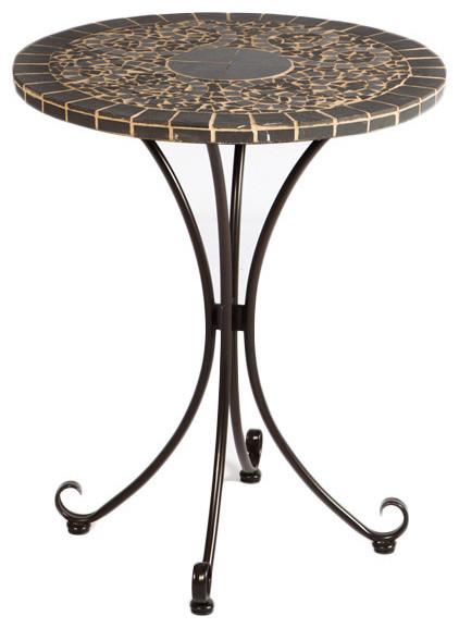 Vulcano Mosaic Outdoor Bistro Table Contemporary Outdoor Pub And Bistro T