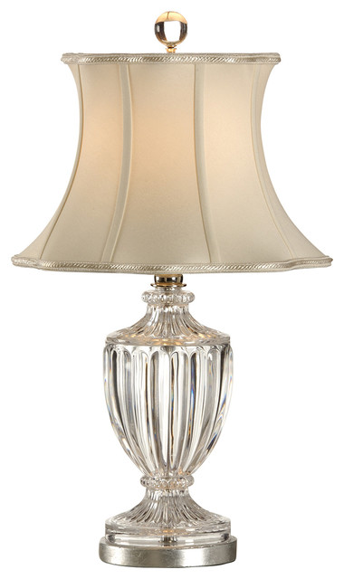 house 23 0778a small crystal urn lamp 68308 traditional table lamps. Black Bedroom Furniture Sets. Home Design Ideas