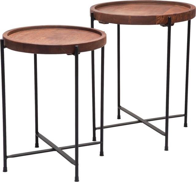 Beistelltisch slim line quattro 2 set contemporary for Slim side table