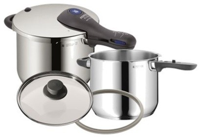 Wmf perfect plus pressure cooker set with for Perfect kitchen cookware