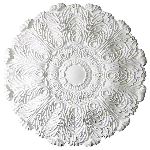 Acanthus leaves ceiling medallion traditional ceiling for Acanthus leaf decoration