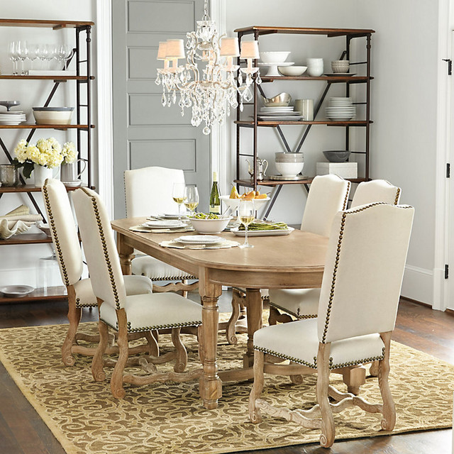 Capistrano 7 piece dining set 120 inch contemporary for 120 inch table