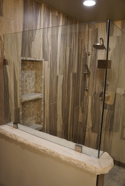 Wood Grain Shower Tile Rustic Other Metro By Jake