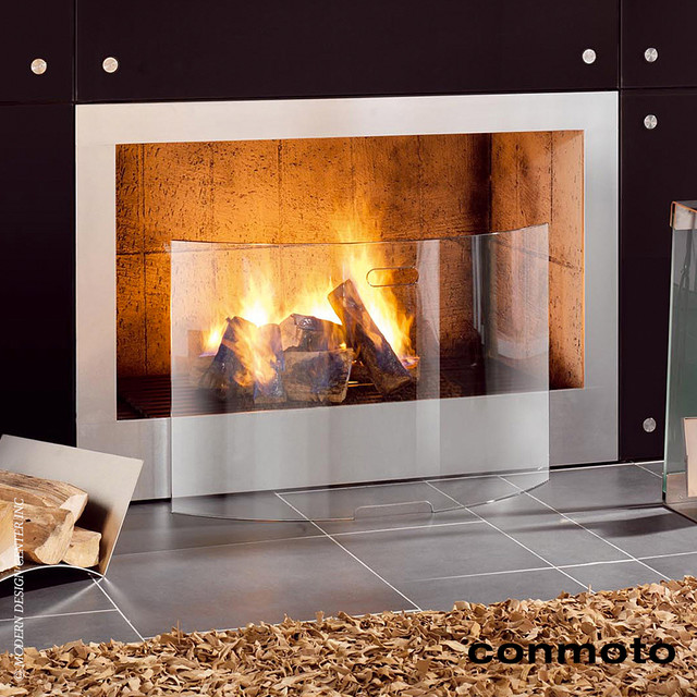 Conmoto mentas fireplace screen modern fire guards screens los angeles by - Find best contemporary fireplace screen ...