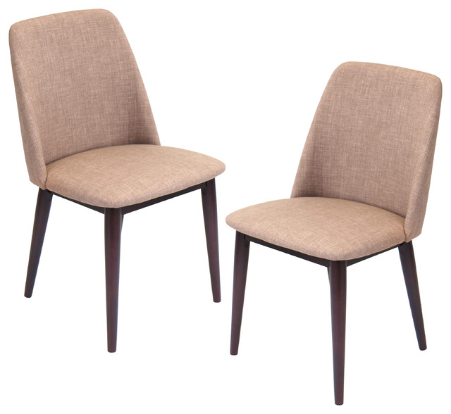 Tintori Fabric Upholstered Dining Chairs Set Of 2 Contemporary Dining C