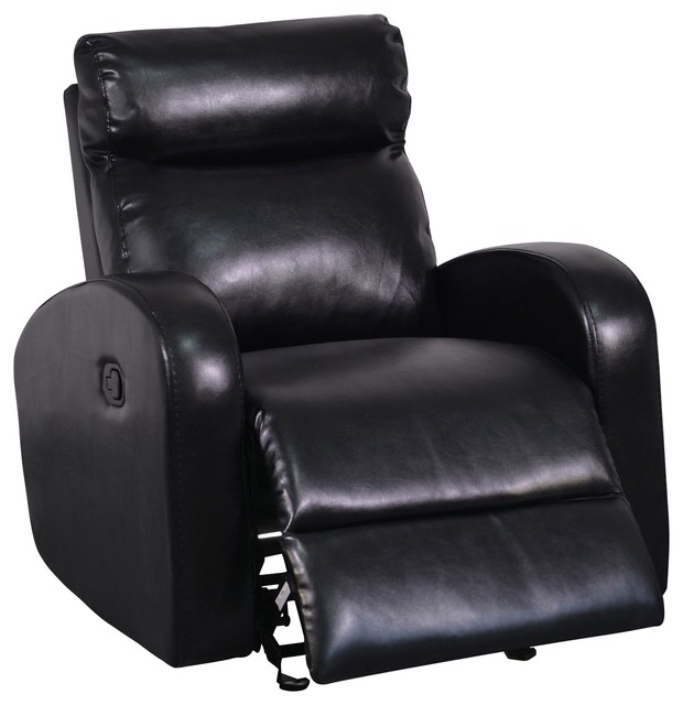 Furniture glider recliner sl 10 black contemporary recliner chairs