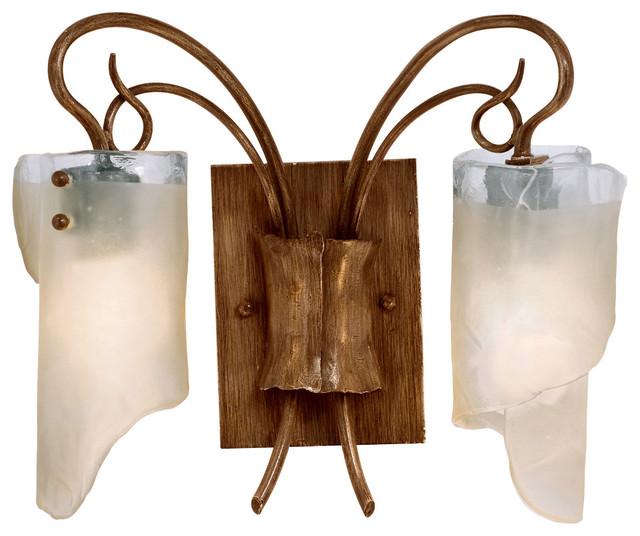 Ore 2 Light Bathroom Wal Sconce Rustic Bathroom Vanity Lighting