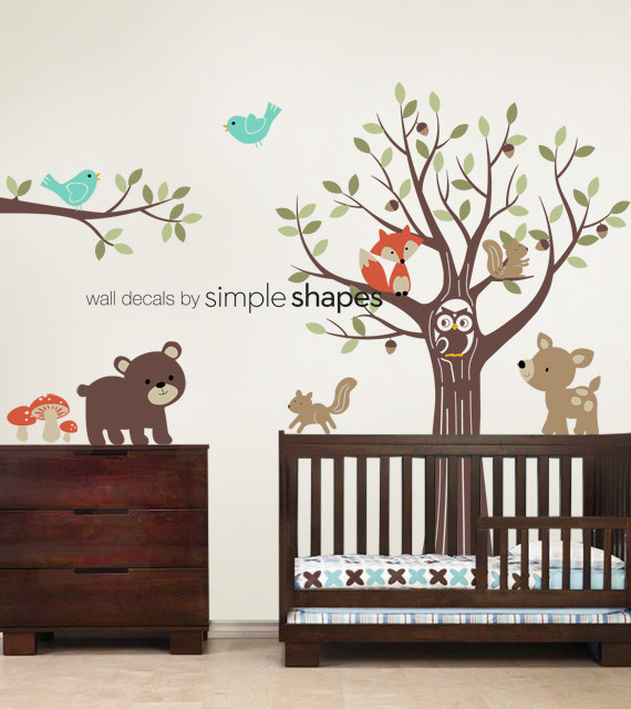 Tree With Forest Friends Decal Set Kid39s Nursery Room