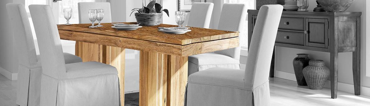 Mesa comedor madera maciza con hierro for Mesa comedor madera maciza
