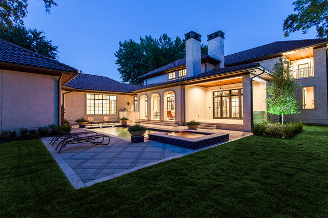 Preston hollow v traditional exterior dallas by for A v jennings home designs