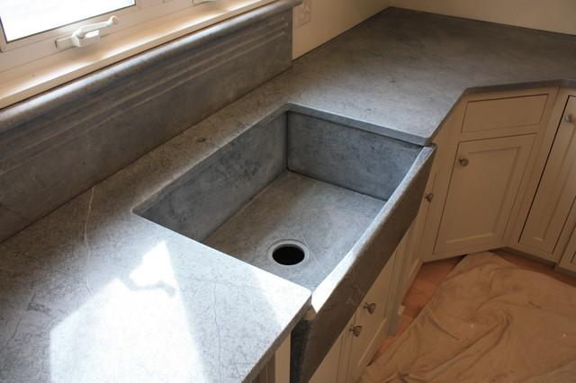 Soapstone Sinks Farmhouse Kitchen Countertops cincinnati by The Stone