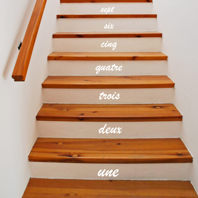 Stair Number Stickers Contemporary Wall Decals By