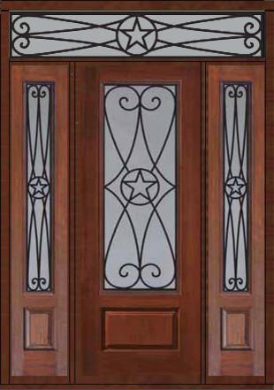 Prehung Side Lights Transom Door 96 Fiberglass Austin Texas Star Eclectic