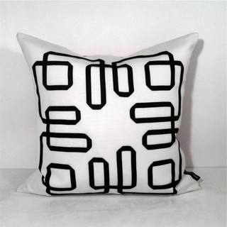 Black and White Mazing Outdoor Decor Cushion Modern