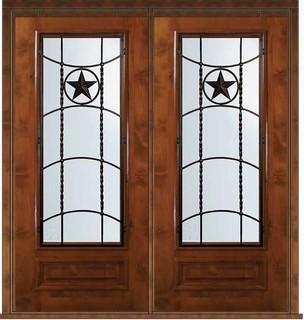 Pre Hung Double Door 80 Wood Alder Texan Texas Star 3 4