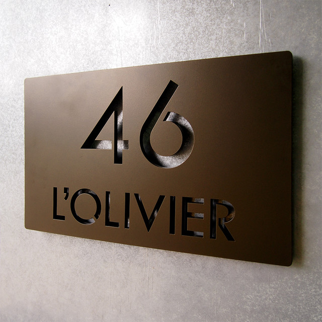 Bathroom remodeling indianapolis in - Address Plaques Modern House Numbers Indianapolis