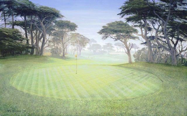 Cypress point 18th hole wall mural traditional for Augusta national wall mural