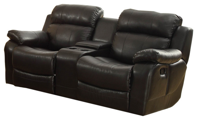 Homelegance Marille Double Glider Reclining Loveseat With
