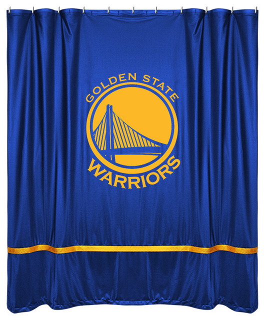 Sidelines Shower Curtain Warriors Shower Curtains By Sports Coverage